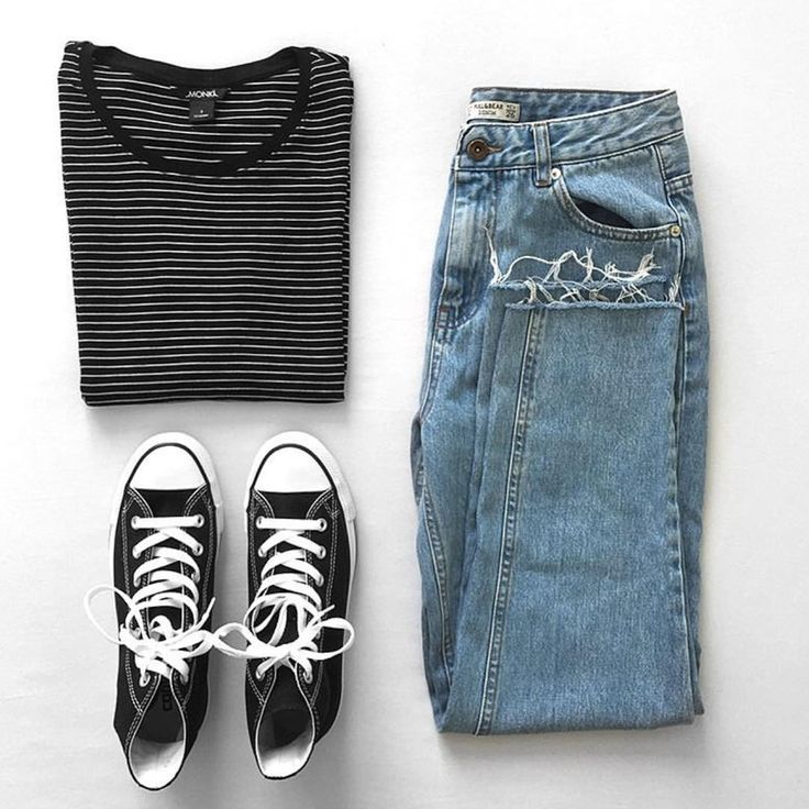Black Stripe with Jeans