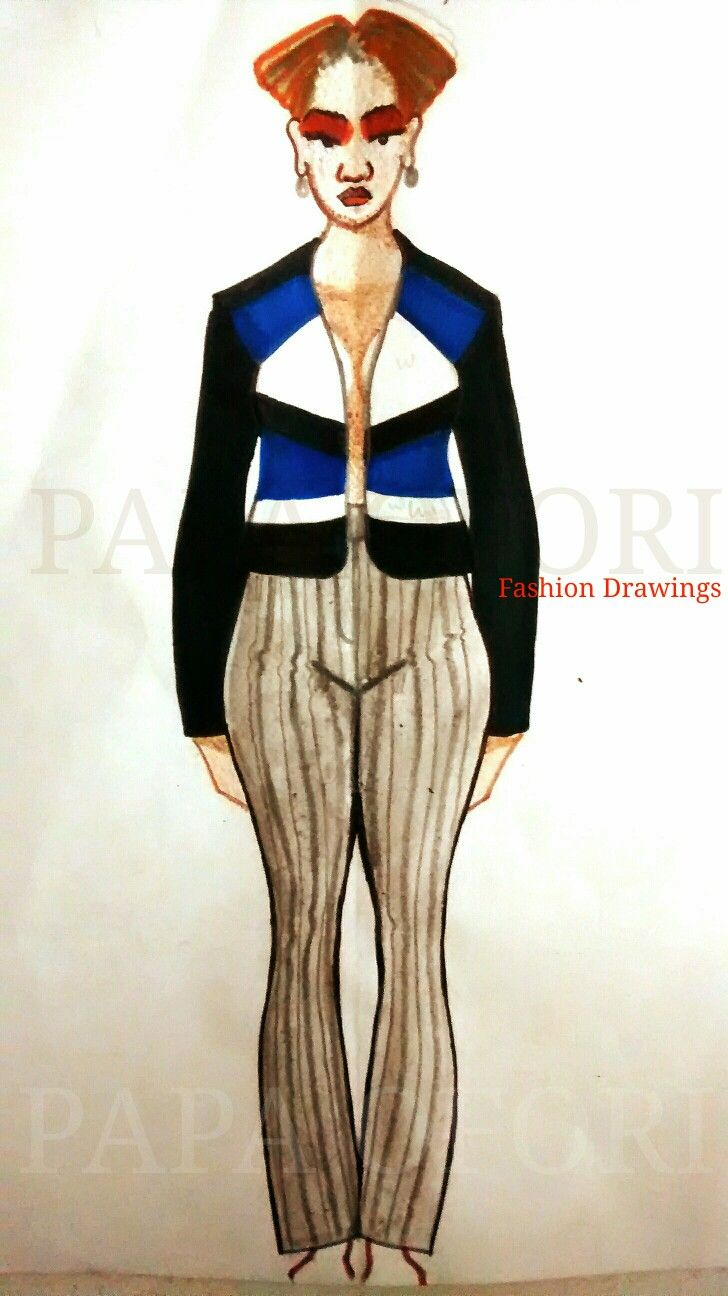 Playing With Horizontal Vertical And Diagonal Lines Simultaneously Fashion Drawing Fashion Diagonal Line