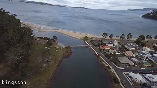Drone still of Kingston Beach area. Image: TONY BACON