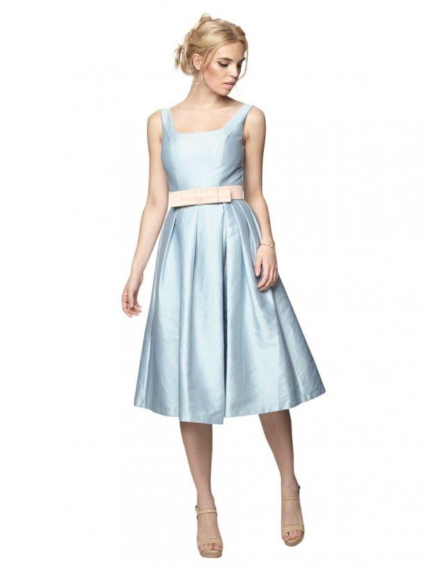 Modré Retro Šaty Blanka Straka Chi Chi London