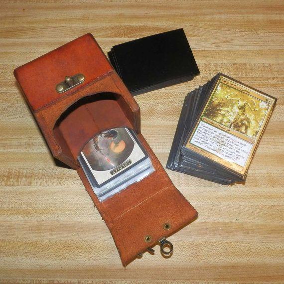 Leather Magic the Gathering Deck Box (standard size) Plus Tokens, Magic The Gathering Pokemon, YuGiOh, Yu Gi Oh