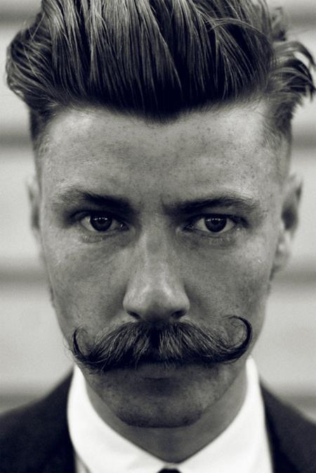 The handlebar moustache. Like if you like it
