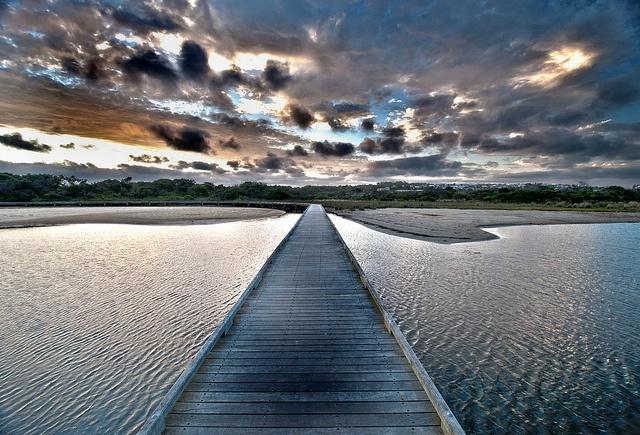 torquay foot bridge in victoria, australia