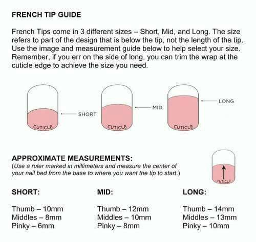 Jamberry french tip guide