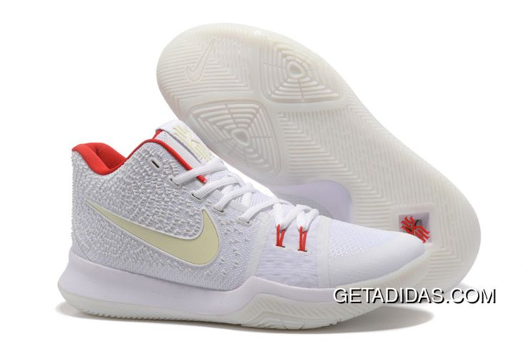 """http://www.getadidas.com/new-release-nike-kyrie-3-white-red-glow-in-the-dark-2017-super-deals.html NEW RELEASE NIKE KYRIE 3 """"WHITE/RED"""" GLOW IN THE DARK 2017 SUPER DEALS Only $98.60 , Free Shipping!"""