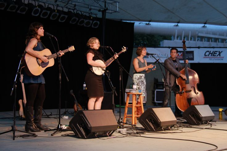 The Good Lovelies shocked the crowd with their amazing signature three-part harmonies on August 20, 2014 at Peterborough  Musicfest.