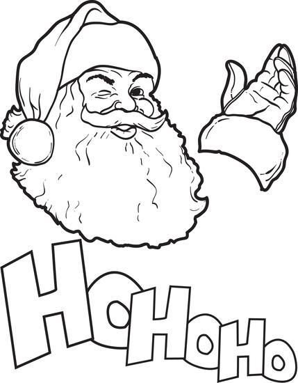 free printable santa claus coloring page for kids