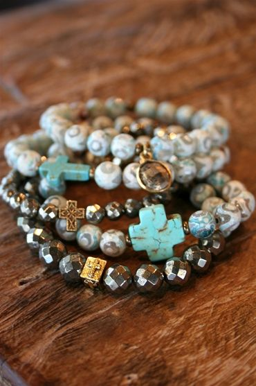 Liv-N-Grace Jewelry - Faceted Moonstone Agate and Pyrite  Reminds me of the fairy crosses you can find in North GA and Carolinas