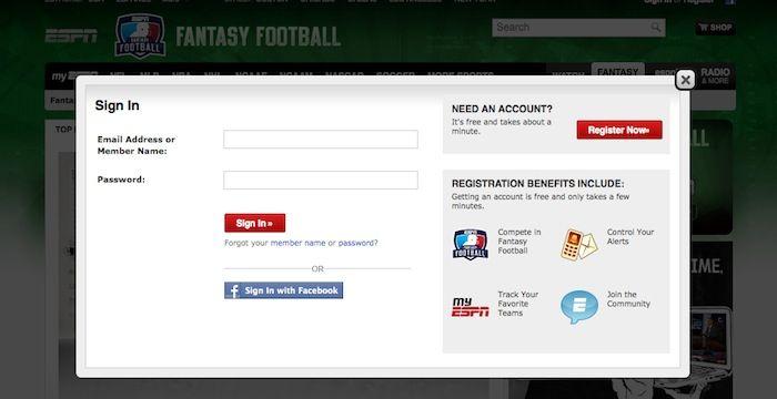 ESPN Fantasy Football Login
