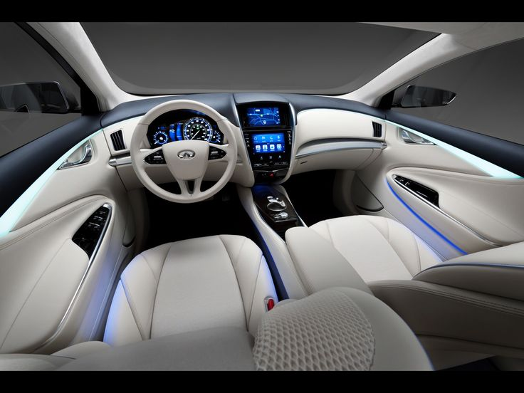2012 Infiniti LE Concept... since when did a shuttle craft need a steering wheel???