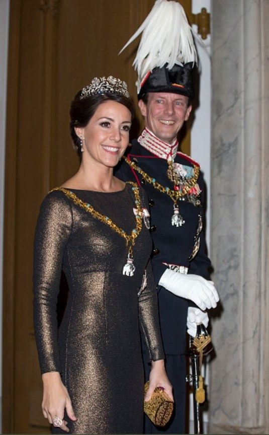 1 January 2017 - The Danish Royal Family attend New Year reception at the Royal Palace in Copenhagen