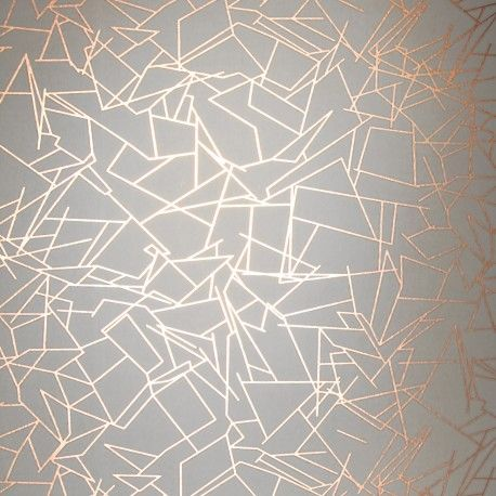 feature wall   Erica Wakerly Angles Copper Wallpaper