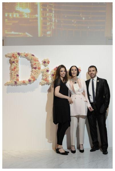 """""""Future is gold"""" by Dior  Hija de Kouka, Kouka y Marcelo Toledo. Dior presentó la fragancia J'adore con un cocktail en Faena Arts Center."""