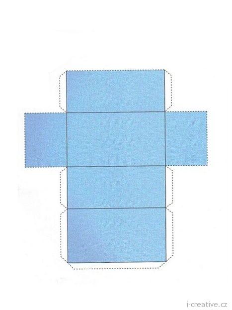 krabička z papíru - návod