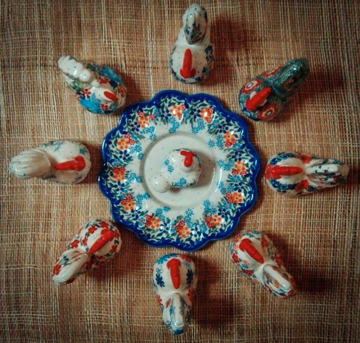 Символы нового, 2017 - очаровательные Петухи / Symbols of the new, 2017 - charming Roosters. Pottery Boleslawiec #посударучнойработы #керамикаручнойработы #посуда #ceramics #pottery #polishpottery ceramic tableware   pottery   polish pottery   boleslawiec   посуда   керамическая посуда   польская керамика   польская посуда   болеславская керамика   керамика