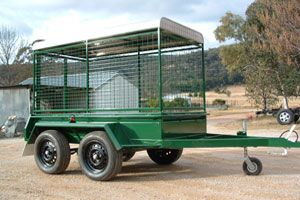 Custom built alpaca trailer made by Complete Weld in Mudgee, NSW, Australia.