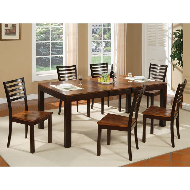 Fifth Avenue Wood Rectangular Dining Table U0026 Chairs In Brown Espresso By  Winners Only