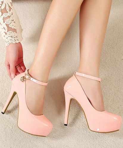 Pink designer heels