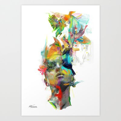 Dream Theory Art Print by Archan Nair - $29.00  www.society6.com