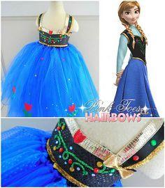 Anna Tutu Dress Frozen Costume Birthday Party Or My Babys First Halloween