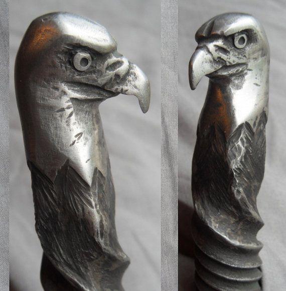 Bald Eagle HandForged Knife AntiqueRailroadArt