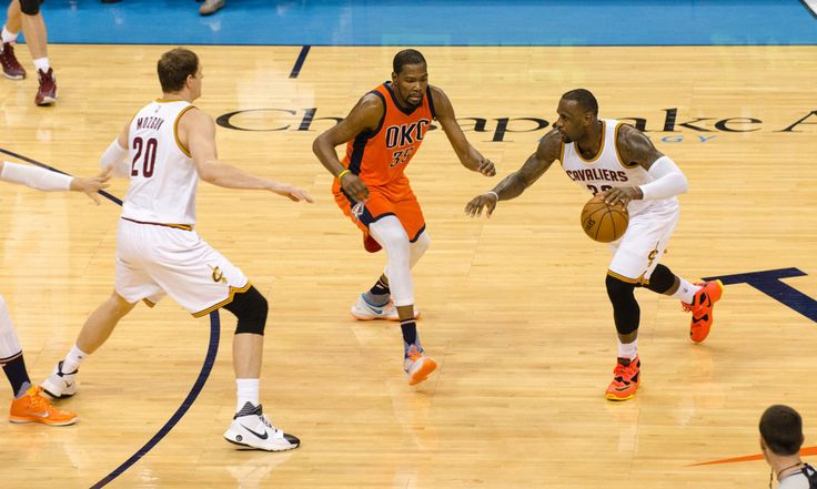 The Play: Cavaliers Use Physicality to Beat Thunder = The Play: In the first half of the Cleveland Cavaliers' 115-92 road win over the Oklahoma City Thunder, LeBron James connects with Tristan Thompson for a picturesque alley-oop.....