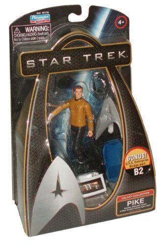 Star Trek Movie Series Galaxy Collection 4 Inch Tall Action Figure - PIKE with Utility Belt Phaser  @ niftywarehouse.com #NiftyWarehouse #StarTrek #Trekkie #Geek #Nerd #Products