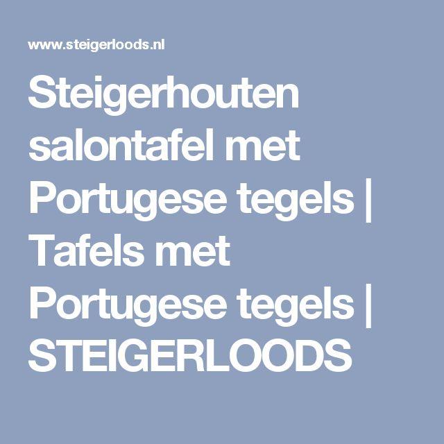 Steigerhouten salontafel met Portugese tegels | Tafels met Portugese tegels | STEIGERLOODS