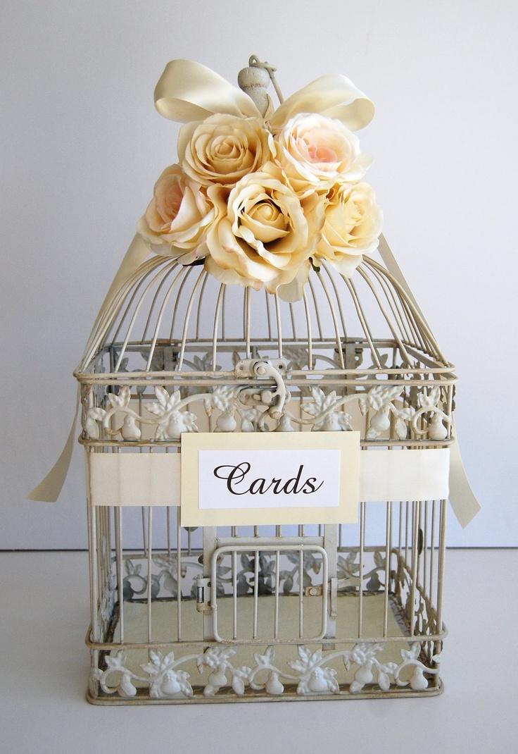 cute idea: wedding birdcage for cards