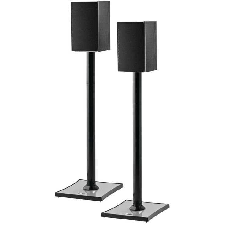 Gemini Audiophile Bookshelf Speaker Stands (2-Pack), Black
