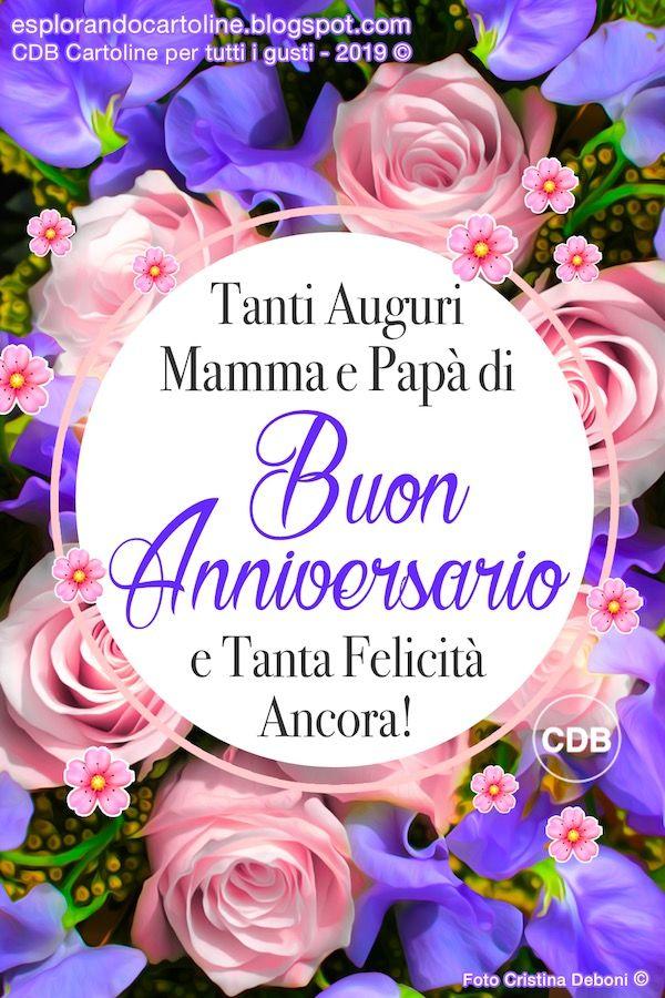 Anniversario Matrimonio Mamma E Papa.Cartolina Tanti Auguri Mamma E Papa Di Buon Anniversario