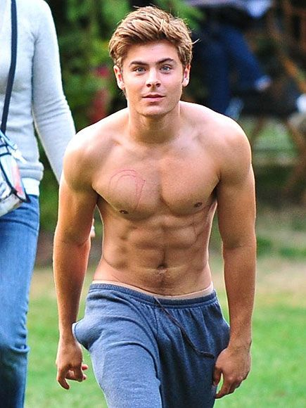 The Top 25 Best Pictures Of Zac Efron Shirtless. Really? I didn't need to see this... :)