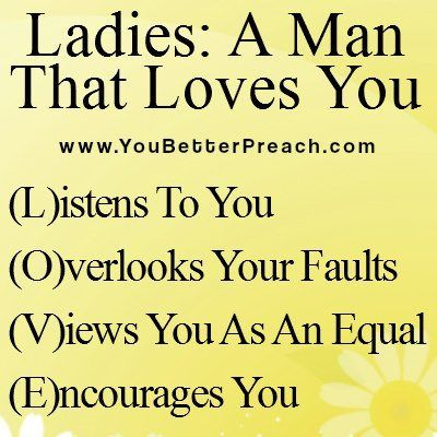 A man to love