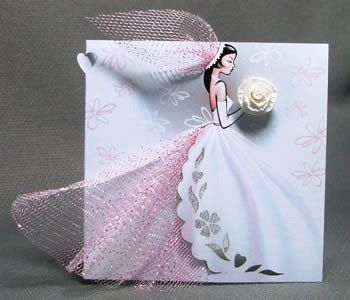 "Handmade Bridal Wedding Invitations ""Bride"" – Invite your Bridesmaids, Bridal Gown Invitation, Wedding Dress Invitation, Shower Invitation"