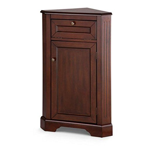 Weatherby Bathroom Corner Storage Cabinet (Walnut)