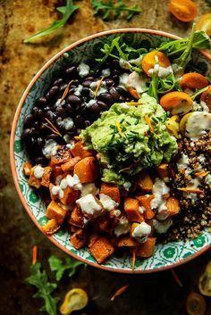 Cuban Quinoa Bowl with Spicy Lemon Dressing- Vegan and Gluten Free
