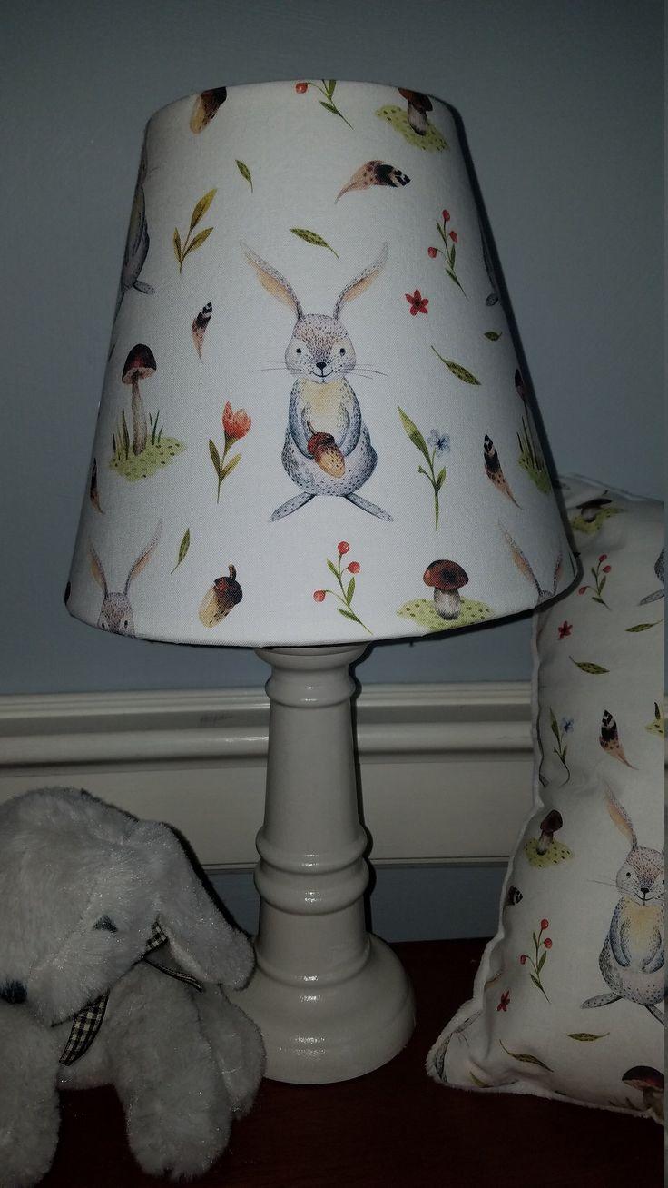 Bunny nursery lamp, Boho bunny accent lamp, bunny baby