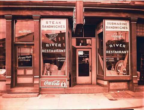 Vintage:  The River Restaurant in Derby, Ct., at the old location near the Derby/ Shelton Bridge.