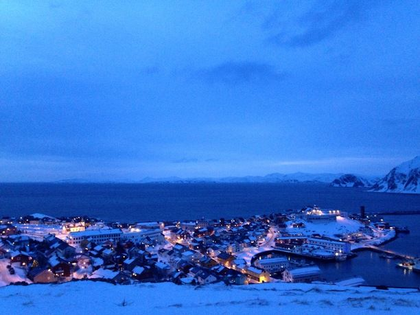 Honningsvåg, Norway — by Rachel. #snow - This is the northernmost town in Norway located above the Arctic Circle. Great place to visit!