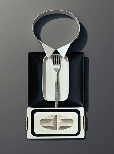 食器やナイフが紳士に変身する「dinner etiquette」