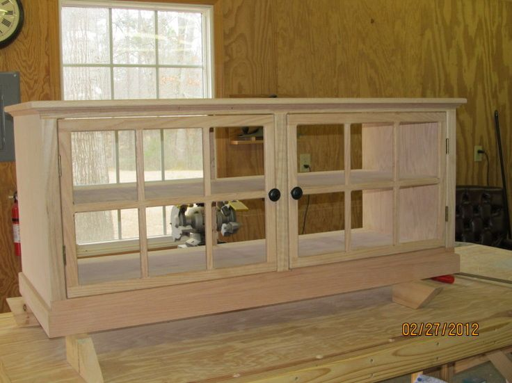 Media cabinet made with kreg jig for the home for Build kitchen cabinets with kreg