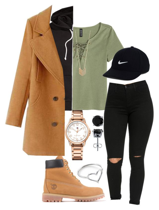 """Untitled #110"" by rabiamiah on Polyvore featuring Tommy Hilfiger, Timberland, H&M, NIKE, Jordan Askill, BERRICLE and Forever 21"