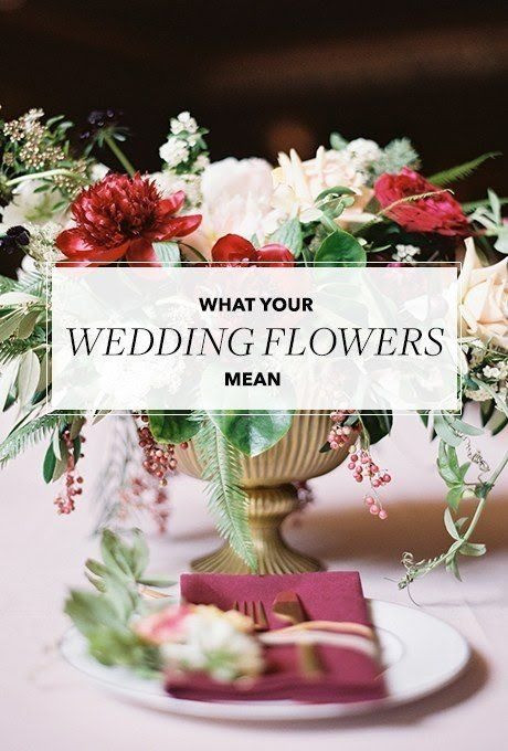 "If you're planning a wedding with lots of personal touches — you're getting married the same month you and the groom met three years ago! Wearing Mom's veil! Serving the cocktail you had the night he proposed! — think about personalizing your flowers too. But instead of basing your choices on color and style alone, let the blooms' historical meanings inform your decision too. The ""language"" of flowers is a thing and has been for centuries. During Victorian times, for example, flowers were…"