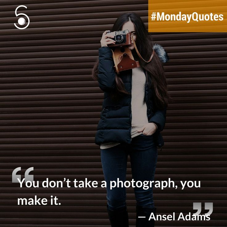 ❝You don't take a photograph, you make it❞⠀ -Ansel Adams