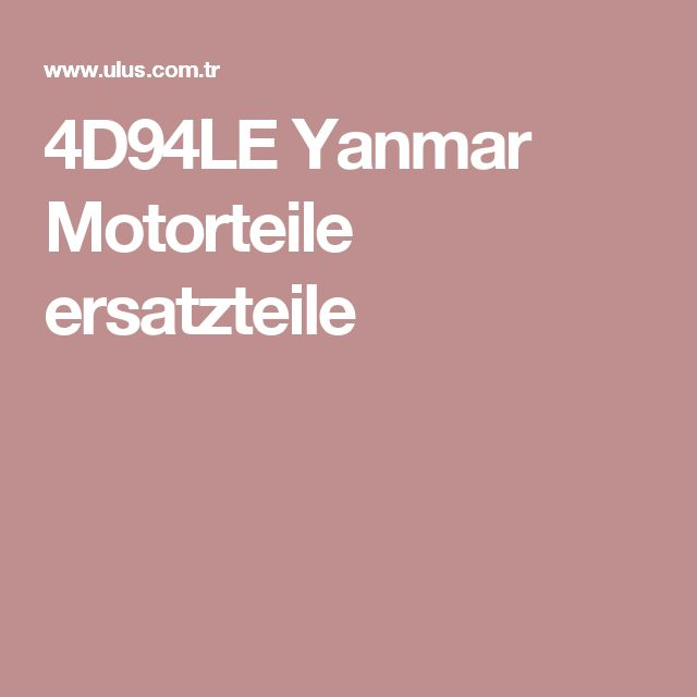 4D94LE Yanmar Motorteile ersatzteile