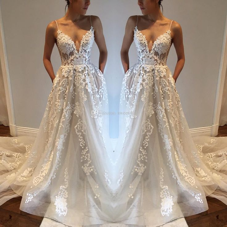 Sexy Bohemia Wedding Dresses with Pockets Spaghetti Straps Backless Chapel Train Tulle Vintage Lace 2017 Cheap Plus Boho Beach Bridal Gowns Wedding Dresses Bohemia Vestidos De Novia Online with $165.0/Piece on Sweet-life's Store | DHgate.com