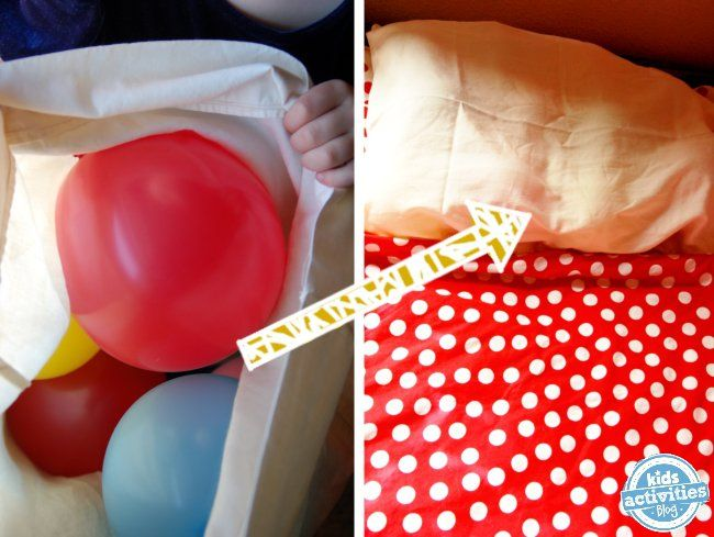 Balloon Pillow prank for kids