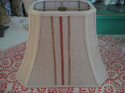 traditional lamp shades Vintage Grainsack Lampshade by lampshadelady on Etsy