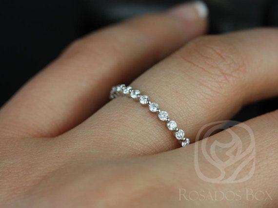 Zierliche Naomi/Petite Blase & atmen 14kt Weißgold Diamanten