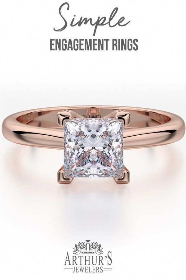 6c7bb348c I adore this.. #simpleprincesscutring | Stunning Solitaire Rings in ...